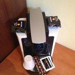 macchina del caffè in tutte le camere