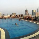 Rooftop pool, nice way to end the day