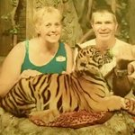 with the tiger cub