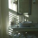 Bathroom on very sunny morning