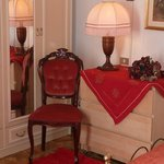 detail of red badroom