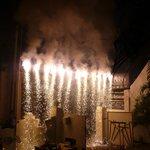 New years eve dinner fireworks
