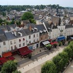 View of the beautifully presented town of Amboise