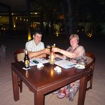 Romantic dinner for 2 on the beach