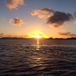 Sunset aboard Island Spirit.