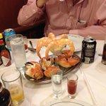 crab and prawns starter