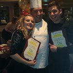 Sophia, Max and Chef Paul