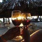 Enjoyable sunset thru red wine. Cheers !!
