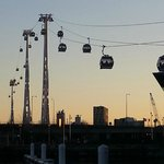 Emirates Air Line from the north side.