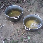 Just look at the colour of the water we drank. God so merciful kept us in good health. lol!!
