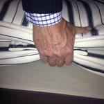 Thin useless mattress at Lorne Hotel