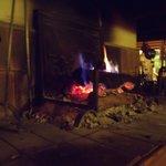 Roaring open fire