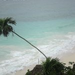 plage depuis le site de Tulum