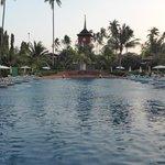 The massive beach-side  Boat-shaped pool