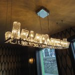The most amazing light fitting in the dining room