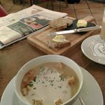 Amazing Soup and house made breads for lunch.