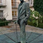James Joyce... sorry the pic didn't frame well when uploaded but Google plenty of Merrion Hotel