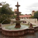 Fountain on hotel grounds