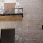 Ingang Picasso Museum in Malaga .