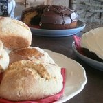 Delicious freshly baked cakes and scones