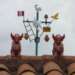 bois de Pucara no telhado