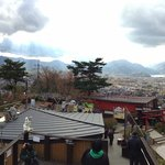 Panorama of Mt Fuji and Kawaguchiko from the view platform