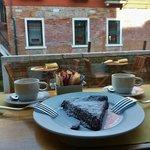 Flourless chocolate cake.
