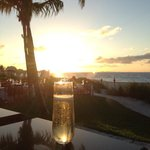 Great sunset drink at infinite bar