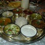 Indisches Speiseangebot des Restaurants