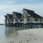 Water Villas from beach