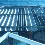 room 202 overlooks metal roof