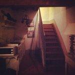 кухня и лесница в спальню