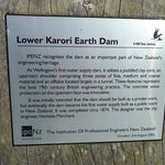Lower earth dam signage