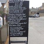 Les menus de la Marée; que des produits de la mer.
