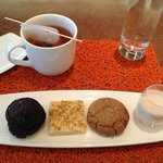 """The Spike Road"" Cookie Plate w/a cup of Earl Gray."