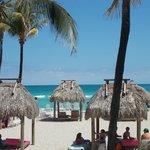 Playa, palapas