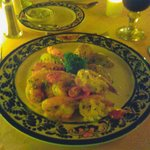 Chef's special! Delicious. Seabars with shrimps.