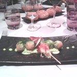sucettes de langoustines cromesquis d'escargots