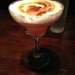 Passion meringue martini