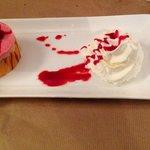 Dessert miroir de fruits rouges , 1 délice...
