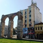 Hotel and aquaduct
