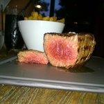 Eye fillet steak - perfect medium rare!