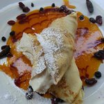 My beautiful Ricotta mousse crepes !