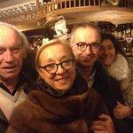 Marinella e Stefano Catrani ospiti di  Meris e Luciano Marchini a Cortina  da i re dello spaghet