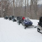 Our snowmobiles.