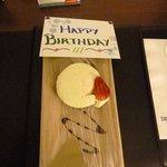 Birthday card and cheesecake :)