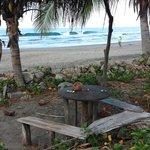 sitting area on beach