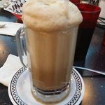 Yummy old-fashioned root beer float