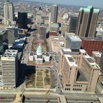 View from top of the arch