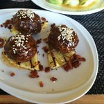 Maui Cattle beef and bacon meatballs w/ pineapple. To die for.